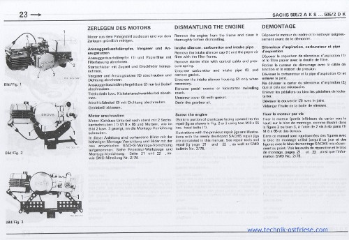 sachs 505/2 motor reparaturanleitung