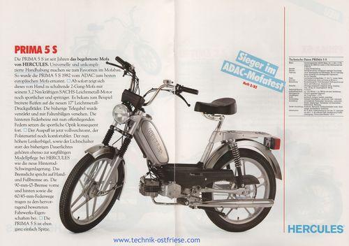 hercules prospekt mofa moped von 1982. Black Bedroom Furniture Sets. Home Design Ideas